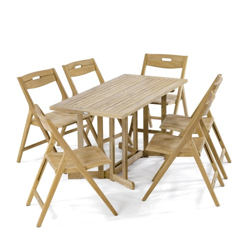 park folding teakwood dining set
