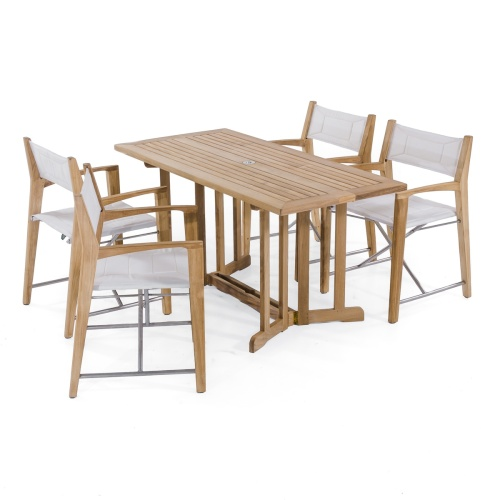 outdoor teakwood folding deck set