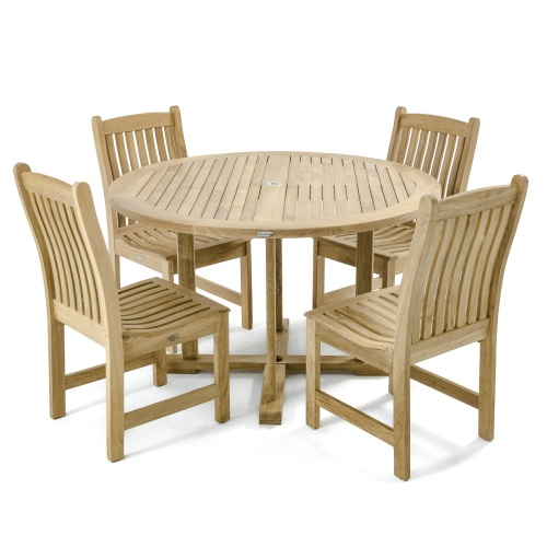 restaurant round wooden sets for 4