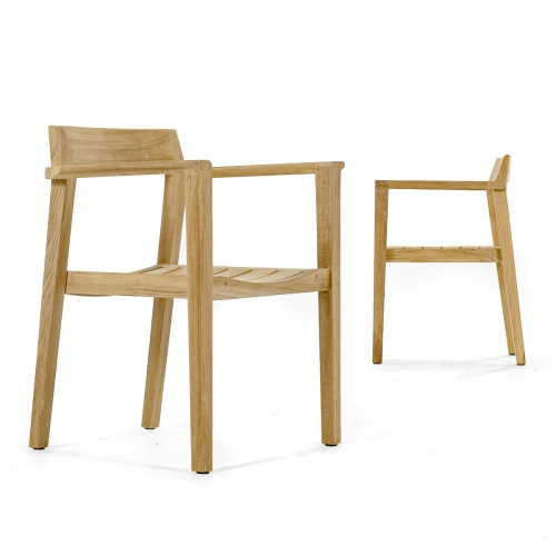 single back teak armchair