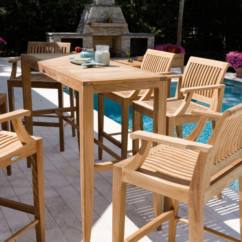 teak outdoor bar sets