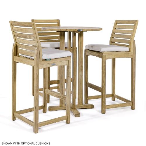 teakwood bar sets 4pc
