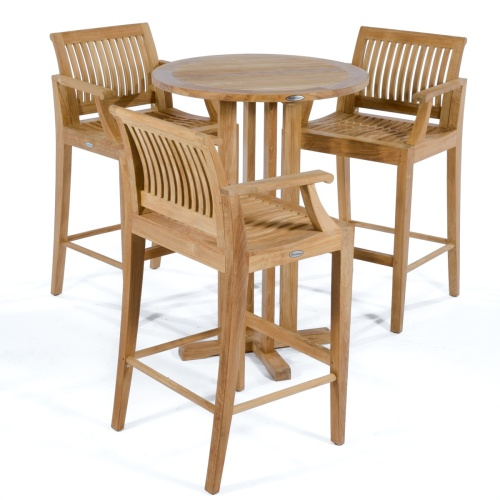 teak patio bar set for 3