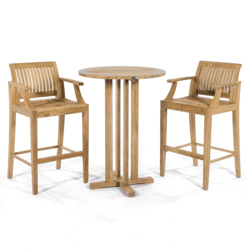 3 piece bar set teak