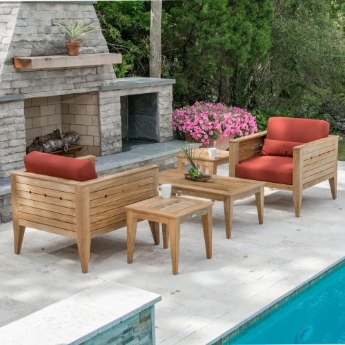 teak wood lounge chairs