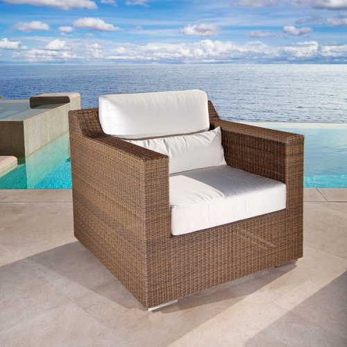teak wicker loung chair