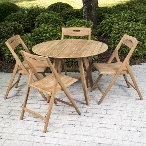 5 piece teak outdoor dining set