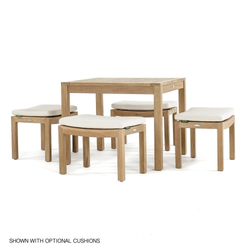 traditional wooden outdoor cafe set