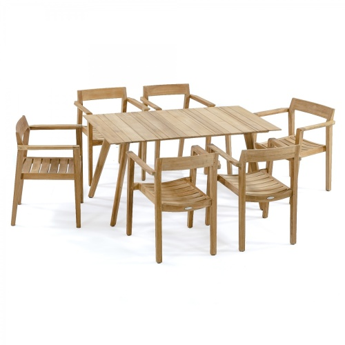 Surf Horizon 7 pc Rectangular Dining Set