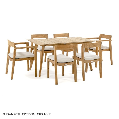 7 piece teak patio dining set