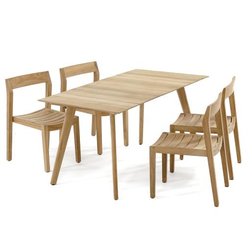mid century outdoor dining sets teak