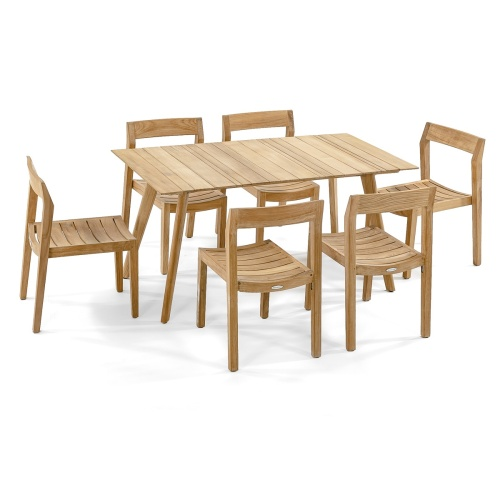 teak table patio set