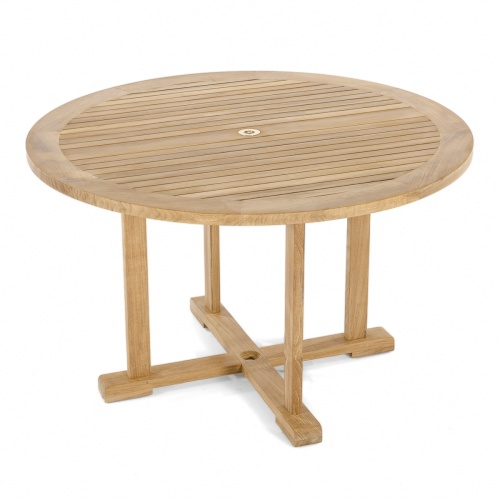 4ft Round Dining Table with umbrella hole
