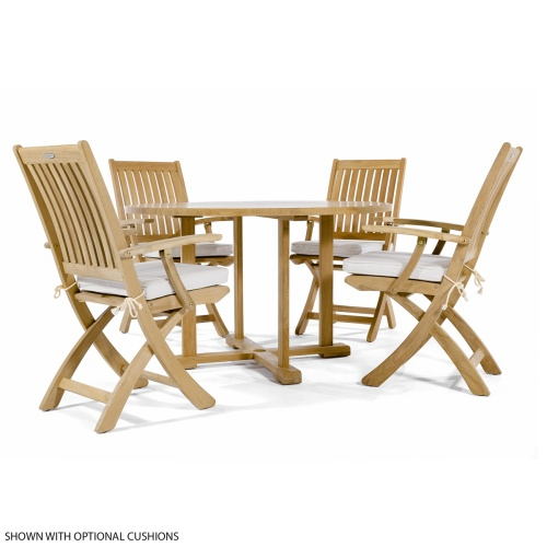 folding deck patio set