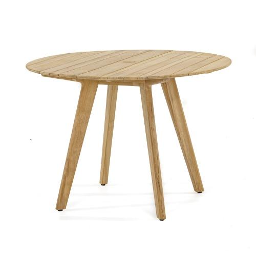 mid century modern teak table round