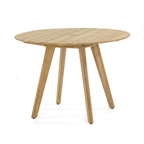 teak wood kitchen round table
