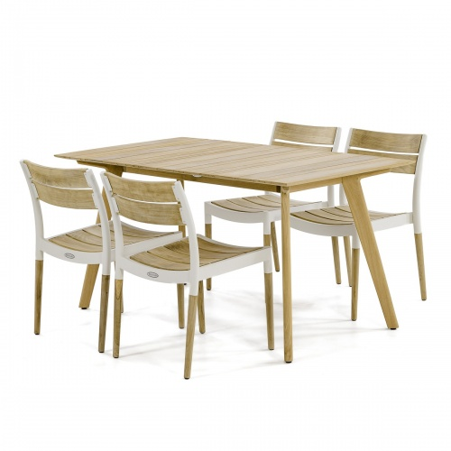 modern teak and Aluminum dining sets