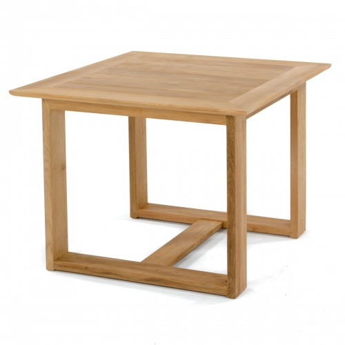 teak outdoor square table