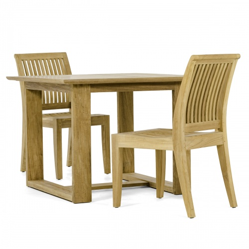 solid teak patio dining set