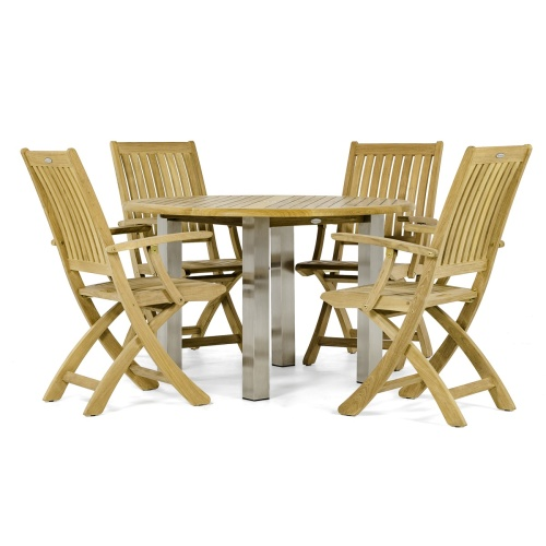 patio furniture set with umbrella hole