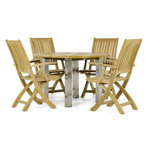 patio furniture set with umbrella hole