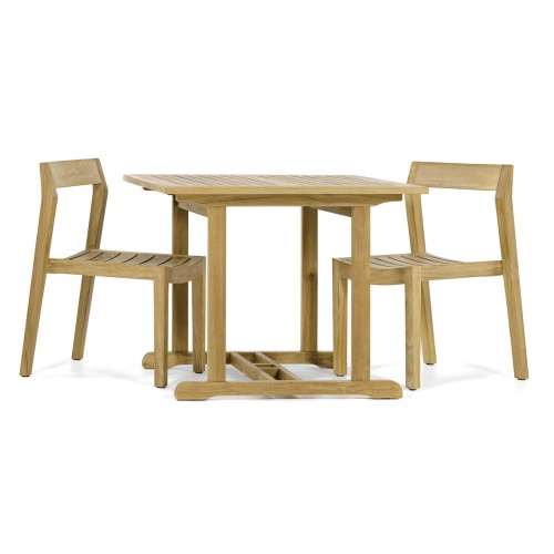 3 piece square bistro set