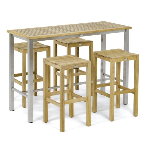 Somerset Square Backless Barstool Set