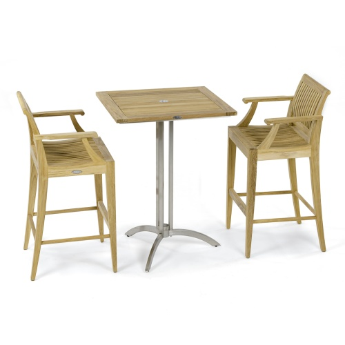 Laguna Square Backless Barstool Set