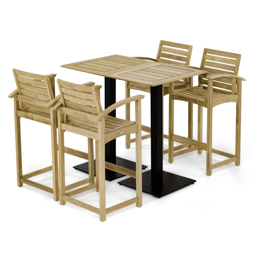 somerset teak bar set for 4