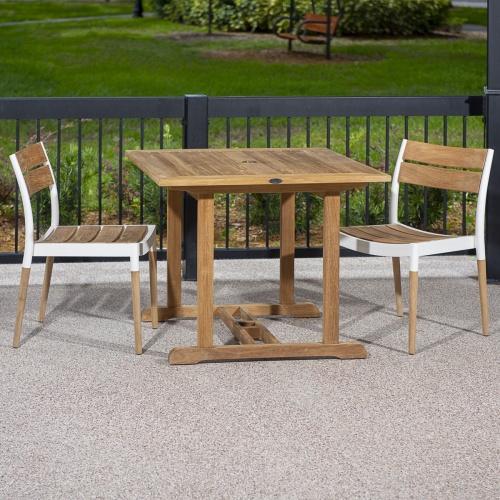 teak and aluminum outdoor furniture