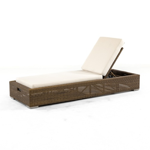 wicker Chaise Lounger Set