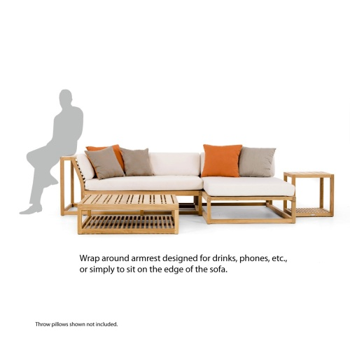 outdoor teakwood sectional sofas