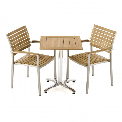 outdoor teak cafe set