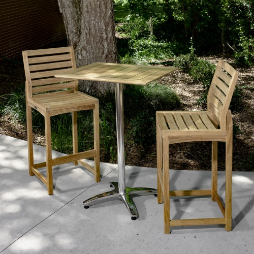outdoor bar set wooden