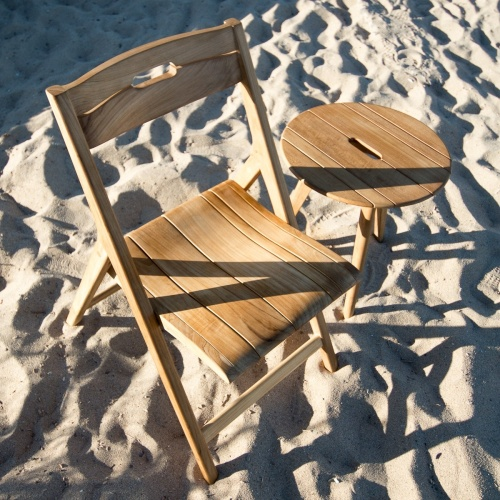 beachfront 2 piece teak conversational set