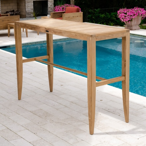 outdoor rectangular bar set table
