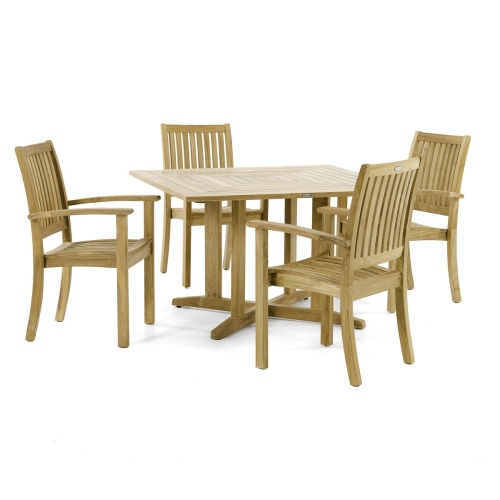 square teakwood dining set