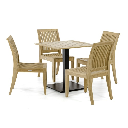 outdoor wooden cafe set for 4