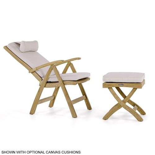 deck chair teak recliner