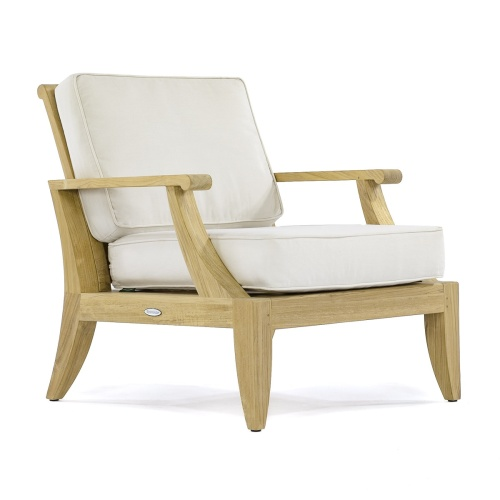 deep seat wooden outdoor chair