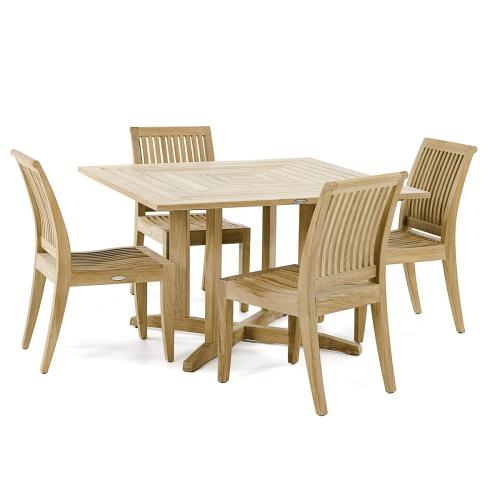 Solid Teak Dining Set for 4