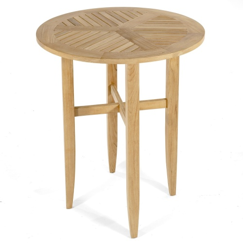 wood garden bar table