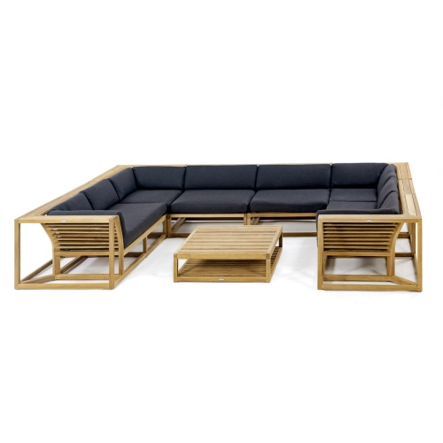 contemporary teak outdoor sectional