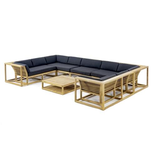 teak outdoor lounge sectional