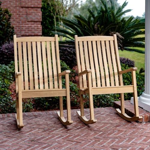 Teakwood outdoor Conversational Rocking Chairs