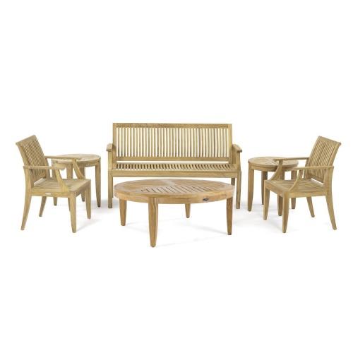 Outdoor Pation Teak Lounge Set for 5