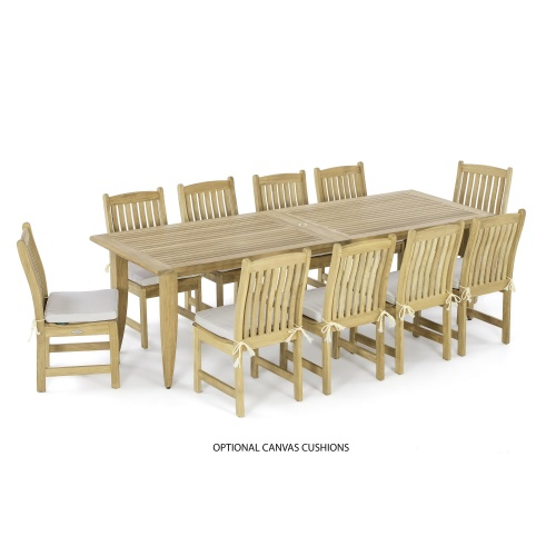 Grand Outdoor Teak Dining Set