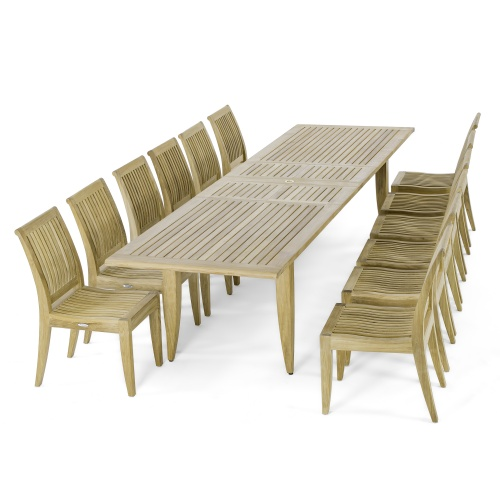 Grand 13 pc Teak Dining Set