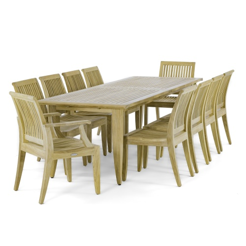 large premium dining sets for 10
