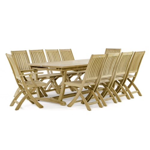 Wooden Outdoor Dining for 10
